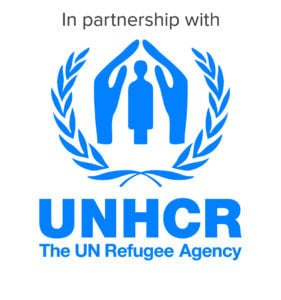 Metadrasi - UNHCR visibility vertical Blue CMYK v2015 Partnership